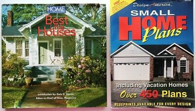 Small Homes 2 books 450 Plans Ideas Home Magazine Best Design America Vacation