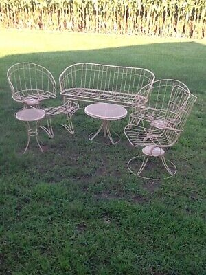 7 Pc.Set Of Mid Century Homecrest Wire Out Door Furniture