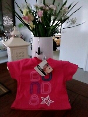 Baby Girls Hot Pink Top. Size 000. Bonds Brand.new With Tags.