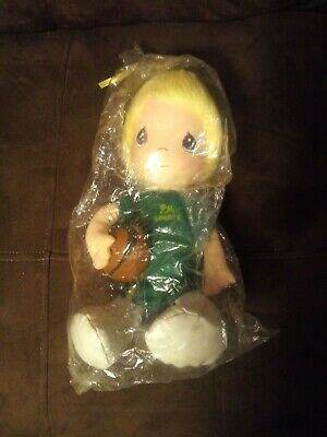Precious Moments boy sports doll with stand new in plastic