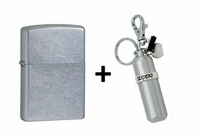 Zippo Street Chrome Lighter + Fuel Canister BUNDLE #29788