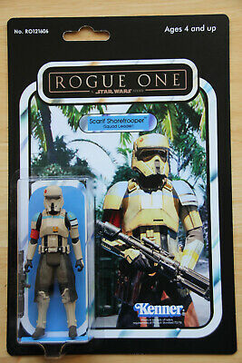 Star Wars Rogue One Scarif Stormtrooper Squad Leader Custom Vintage Style Card