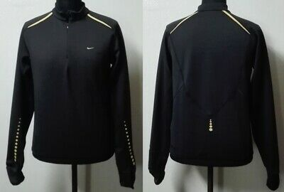 newest collection f37fc 26748 Nike Sphere Dry Techno Training Shirt Running Corsa Jogging Nero Oro Tg.  Large