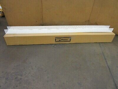 "Panduit Panduct F4X3Wh6 4""X3"" X6' Thin Finger Wiring Duct Slotted Wall Lot Of 10"