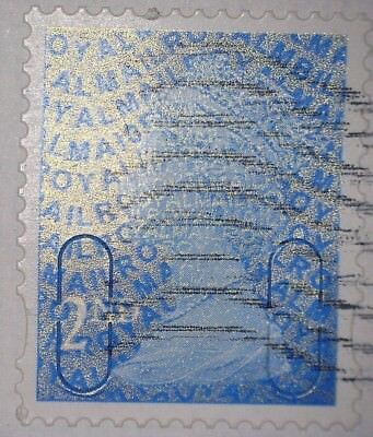 1 x GB USED BLUE 2ND CLASS SECURITY MACHIN 2010 STAMP - MA10 MBIL CODE -PHOTOS