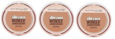 3 Pack Maybelline Dream Wonder Compact Face Pressed Powder 75 Pure Beige