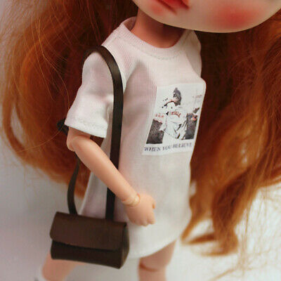 Colorful Pure Color Long T-shirt Top Outfits for 1/6 Blythe Doll Accessory
