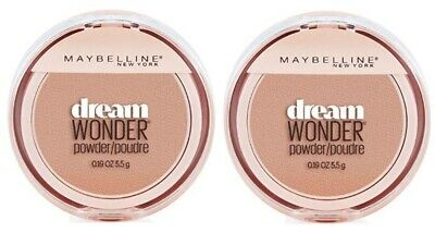 Set of 2 Maybelline Dream Wonder Compact Face Pressed Powder 50 Creamy Natural