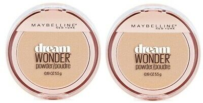 Set of 2 Maybelline Dream Wonder Compact Face Pressed Powder 20 Classic Ivory