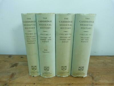 The Cambridge Medieval History -  4 volumes in dustwrappers published 1957