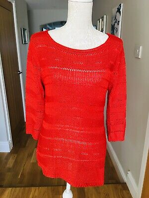 ca427073fe6 Ladies M&S Burnt Orange Tunic Top Size 12 Brand New With Tags