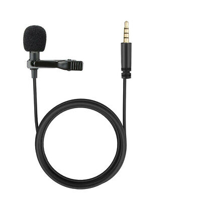 3.5mm Clip-On Lapel Microphone Hands-free Wired Condenser Mini Lavalier Mic