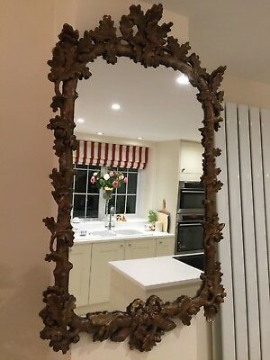 Beautiful French Antique mirror with lovely leaf & acorn detail