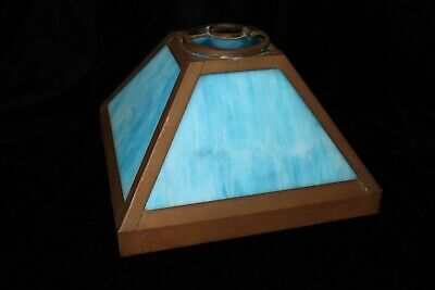 Antique Arts and Crafts Style Slag Glass Lamp Shade