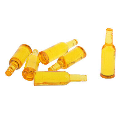 6 PCS Kitchen Accessories Mini Yellow Drink Bottle for 1/12 Scale Dollhouse