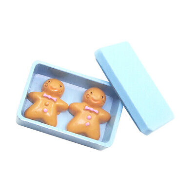 1:12 Dollhouse Miniatures Kitchen Accessories Blue Biscuit Box and Cookies
