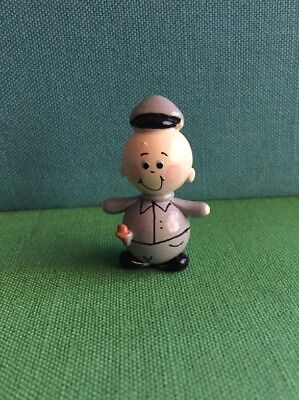 Hand Crafted & Painted Police Man Real Glass Marble Land Miniature Doll House