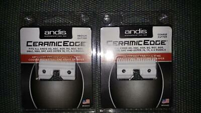 GENUINE ANDIS Ceramic Edge Cutter Blades, Medium and Coarse (1 of each)