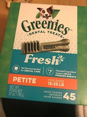 Greenies Dental Treats For Dogs/ Petite 45 Count / NIB
