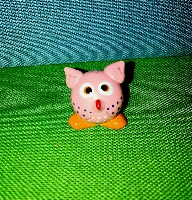 Hand Crafted & Painted Baby Owl Real Glass Marble Land Miniature Doll House