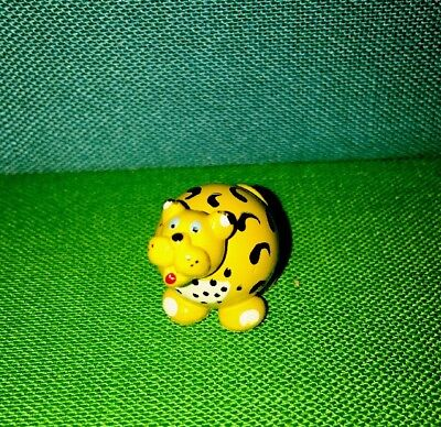 Hand Crafted & Hand Painted Leopard Real Glass Marble Land Miniature Doll House