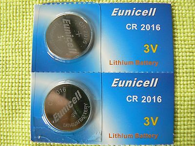 2 Piles Bouton Cr 2016 Lithium 3V Eunicell