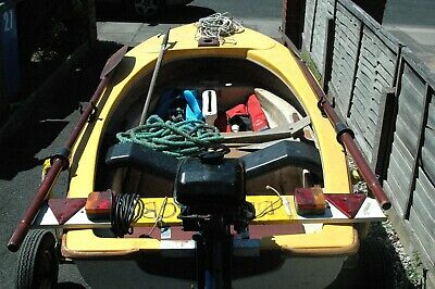 Day Boat / Tender With Trailer And 4Hp Outboard Engine