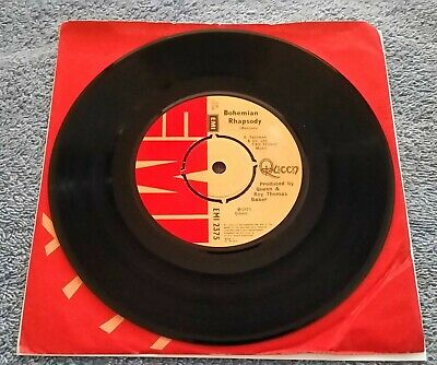 """Queen – Bohemian Rhapsody / I'm In Love With My Car - 7"""" Record UK 1975 VG/EX"""