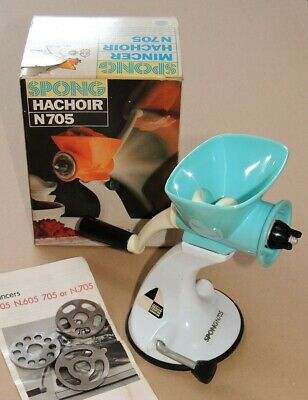 Spong N705 Blue and White Mincer with Suction Base. Design Centre London