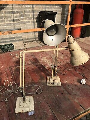 Pair of Original Vintage Herbert Terry Anglepoise Lamps Bakelite fitting