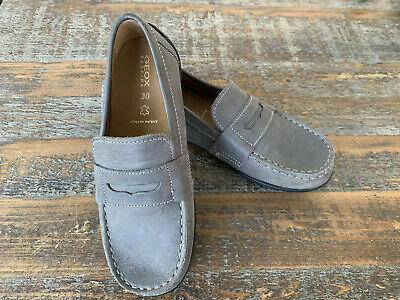 9ab4cb9fac New Boys GEOX JR FAST Leather Loafers - US Kids Sz 12 shoes sneakers