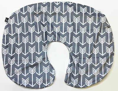 Kids N Such Arrow Nursing Pillow Cover Gray and White Arrow Print