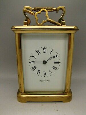 MAPPIN & WEBB Brass  London Carriage Clock 5 glass WITH KEY VINTAGE ANTIQUE ?