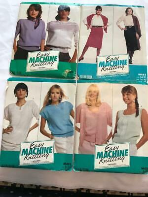 BK185 BROTHER KNITTING MACHINE McCALL EASY MACHINE KNITTING PATTERNS PACKS X 4