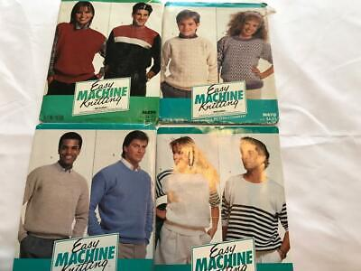 BK184 BROTHER KNITTING MACHINE McCALL EASY MACHINE KNITTING PATTERNS PACKS X 4