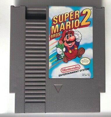 ☆ Super Mario Bros 2 (Nintendo System 1988) AUTHENTIC NES Game Cart Tested Works
