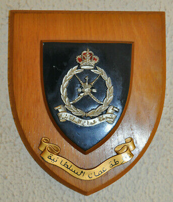 Royal Oman Police mess wall plaque shield crest badge constabulary