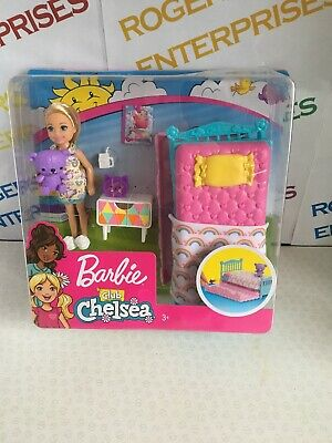 Barbie Club Chelsea Doll Sleepover Trundle Bed Bedroom Playset NEW Box Poor