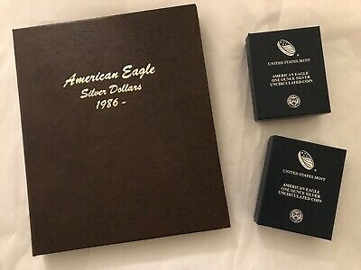 Silver American Eagles Complete 33 Coin Set 1986-2018, All Gem Mint BU Coins!