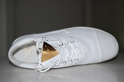 bb93487b7a6b4 GIUSEPPE ZANOTTI White Leather Size Zip Low Top Woman Sneaker Shoes 8 US /  38 EU