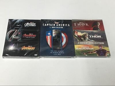 The Avengers 123 & Thor Trilogy 123 DVD & Captain America 123 Collections DVDset
