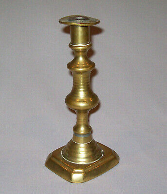 Old Antique Vtg 19th C 1800s Brass Push Up Candle Stick Candlestick Holder Nice