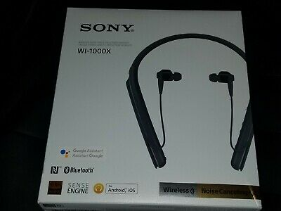3fdf67e7312 Sony WI-1000X Wireless On-Ear Noise Canceling Headphones Black WI1000X Black