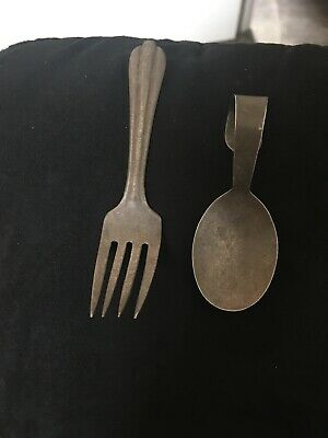 Vintage Sterling Silver Baby Fork And Spoon Set