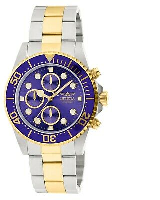92c57383c INVICTA PRO DIVER Men's Chronograph Two Tone Stainless Steel 43mm ...