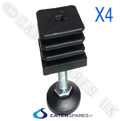 40mm ADJUSTABLE FOOT FEET INSERTS FOR STAINLESS STEEL SQUARE TABLE LEGS SINK x 4