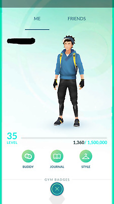 Pokemon Go account Level 35 - 1M+ stardust - High IV - Email Changeable