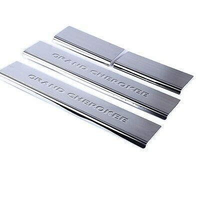 For 2011-2019 Jeep Grand Cherokee Stainless Steel Door Sill Scuff Plate 4pcs/set