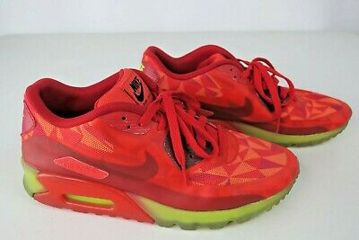save off cfcfd 563d7 Nike Air Max 90 Ice Gym Red Crimson volt 631748 600 Size 8.5