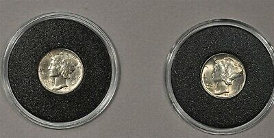 1916 & 1945 Mercury Dimes Uncirculated Lot Of 2 First & Last Year Set